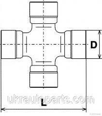 Крестовина рулевого вала ТРАКТОР Т40 Д144 (20х62) (ГПЗ/VBF) (Т25-3401287)