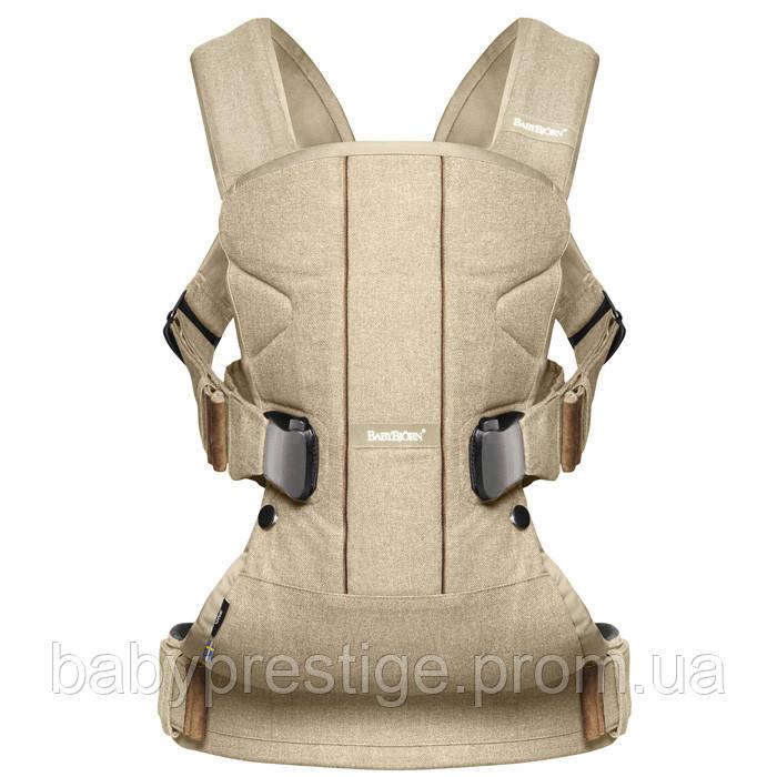 Эргономичный рюкзак-кенгуру Babybjorn Baby ONE Khaki/Beige (хакки-бежевый)