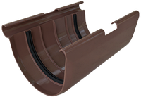 Муфта желоба ПВХ коричневая