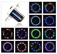 LED подсветка колеса велосипеда на 14 диодов, узор меняется каждые 4 секунды