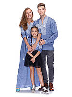 Вишиванки для всієї родини в одному стилі (льон джинс)