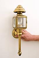 Винтажный настенный светильник, фонарь, лампа, латунь, Германия