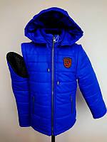 Куртка - жилетка для мальчика синяя (Порше)