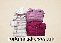 Куртки зимние на меху для девочек KE YI QI 1-5 лет