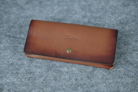 Женский клатч «Баттерфляй» |10365| Италия коричневый