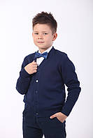 Жакет на пуговицах ( пуловер, кофта для мальчика на пуговицах), синий, фото 1