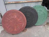 """Люк """"Garden"""" полимерпесчаный коричневый (1т) р.690/750"""