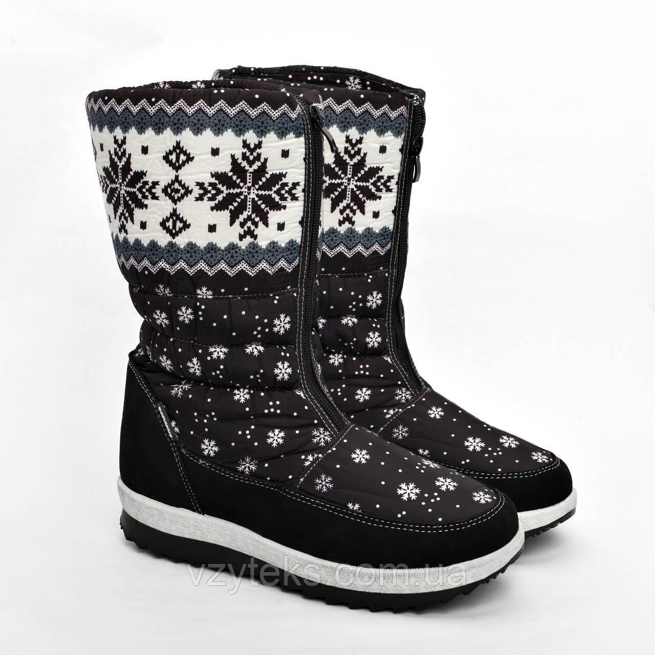 Дутики женские зимние со снежинками Гипанис - Центр обуви Взутекс в  Хмельницком 221de1627e07a