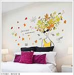 Интерьерная наклейка на стену Девушка (110х60см), фото 2