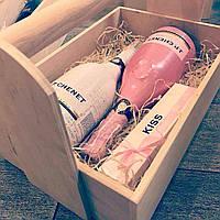 Сумка подарочная под спиртное из фанеры