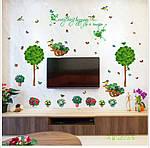 Декоративна наклейка на стіну Дерево з квітами (110х100см), фото 2