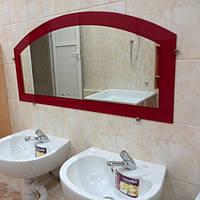 Зеркало фигурное крашенное бардовое 50х100 см
