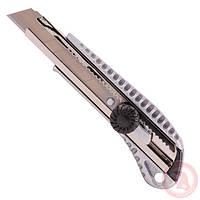 Нож прорезной с металлической направляющей под лезвие 18мм, противоскользящий корпус, фото 1
