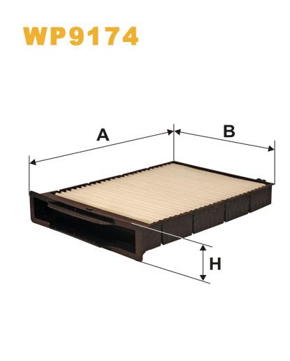 Фильтр салонный WIX WP9174 (K1130)