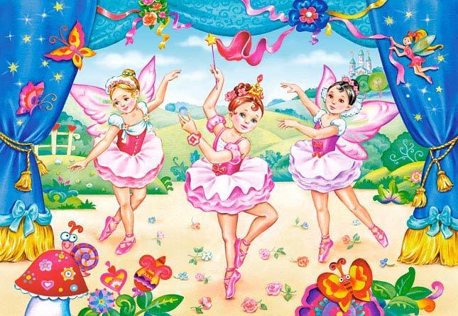 Пазлы Castorland Маленькие балерины, 40 элементов maxi