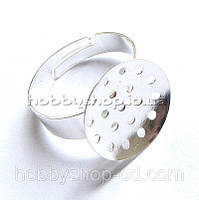 Основа для кольца Сито (диам. 16 мм, размер регул.) 100 шт св. серебро