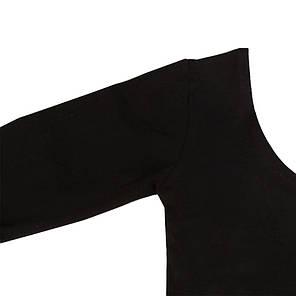 Детский купальник для гимнастики и танцев (хлопок) Черный, фото 2