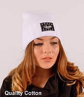 """Вязаная шапка теплая на осень """"Urban style"""""""