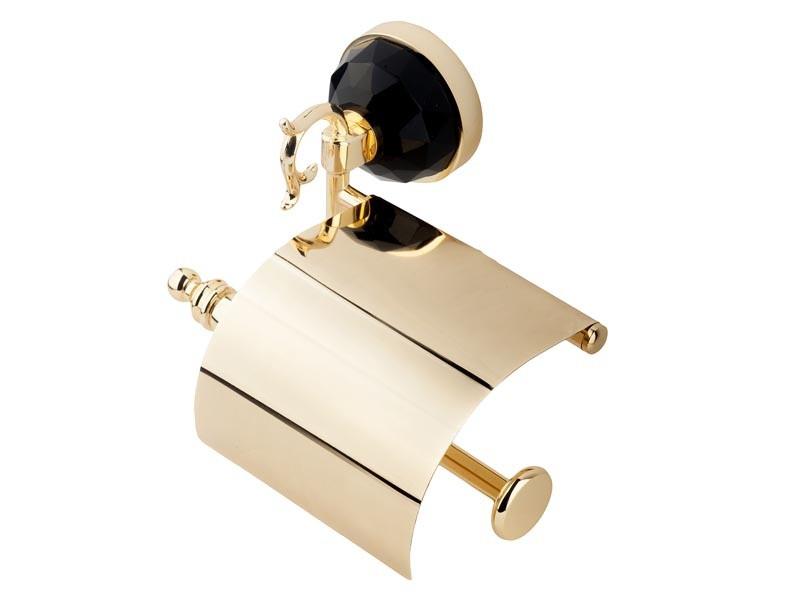 Держатель для туалетной бумаги с крышкой Kugu Diamond 1111G, золото