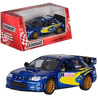 Машина металлическая SUBARU IMPREZA WRC 2007 , коллекционная модель