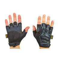 Перчатки тактические с открытыми пальцами MECHANIX BC-5628-BK