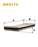 Фильтр салонный WIX WP9176 (K1131)