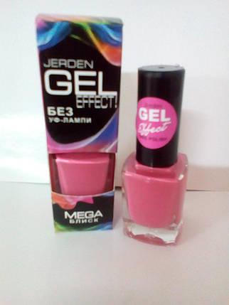 Лак для ногтей Jerden Gel Effect №7 (morning rose) (9мл) , фото 2