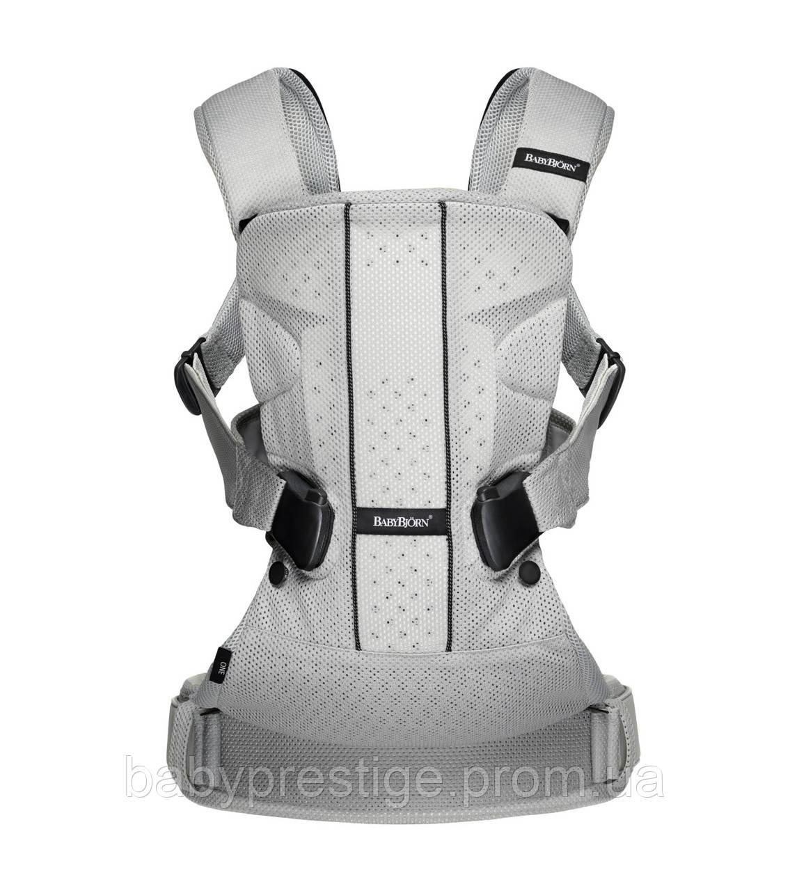 Многофункциональный рюкзак для переноски детей BABYBJORN ONE Air - Silver Mesh