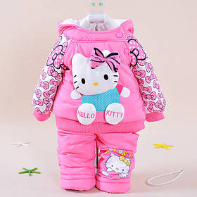 """Детские комплекты. Раздельный комбинезое для девочки """"Hello Kitty"""" розовый"""