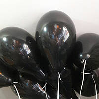 Чёрные гелиевые шары 26 см