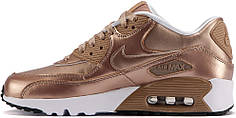 Женские кроссовки Nike Air Max 90 SE Leather GS Metallic Bronze