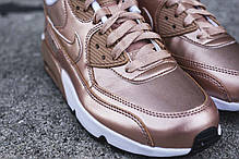 Женские кроссовки Nike Air Max 90 SE Leather GS Metallic Bronze, Найк Аир Макс 90, фото 2