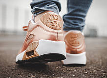 Женские кроссовки Nike Air Max 90 SE Leather GS Metallic Bronze, Найк Аир Макс 90, фото 3