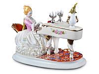 Статуэтка Игра на рояле 30 см фарфор Италия
