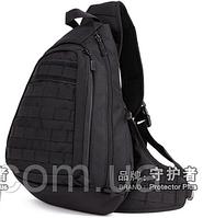 Рюкзак / сумка-слинг тактическая (наплечная) с одной лямкой Protector Plus X204 ЧЕРНЫЙ