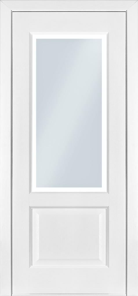 Межкомнатные двери шпонированые  модель 4 белый ясень эмаль - Модный Дом в Киеве