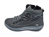 Мужские зимние туфли с нат.кожи SeZoN Stael 101 Black Blue размеры: 40 41 42 43 44 45