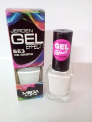 Лак для ногтей Jerden Gel Effect № 21 (Белый) (9мл) , фото 2