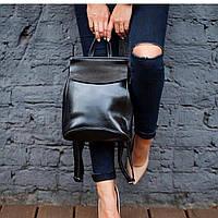 Кожа рюкзак сумка трансформер ss258454  черный  , Натуральная кожа Качество ПРЕМИУМ класса