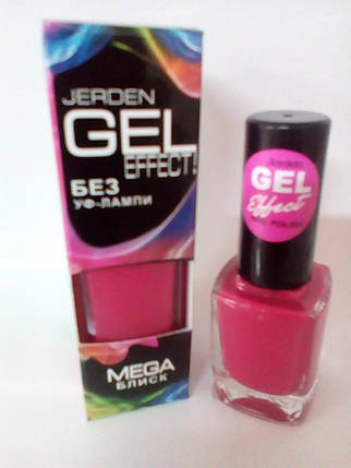 Лак для ногтей Jerden Gel Effect № 23 (алый) (9мл) , фото 2