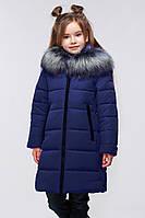 Стеганое пальто с несъемным капюшоном с отстежным эко-мехом на молнии,28-42,наличие размера уточняйте