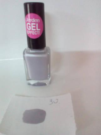 Лак для ногтей Jerden Gel Effect № 30 (светло-серый с сиренево-голубым оттенком.) (9мл) , фото 2
