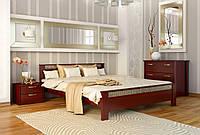 Кровать Афина тм Эстелла 160х190/200, №104 Красное дерево, Массив бука