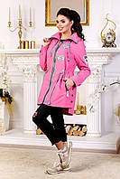 Женская демисезонная малиновая куртка В-1021 МФ 101999 Тон 38 44-54 размеры