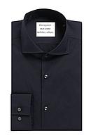Рубашка мужская синяя Slim с длинным рукавом L(41-42)