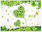 Декоративна наклейка на стіну Квіти (130х80см), фото 2