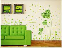 Декоративная наклейка на стену  Цветы (130х80см)