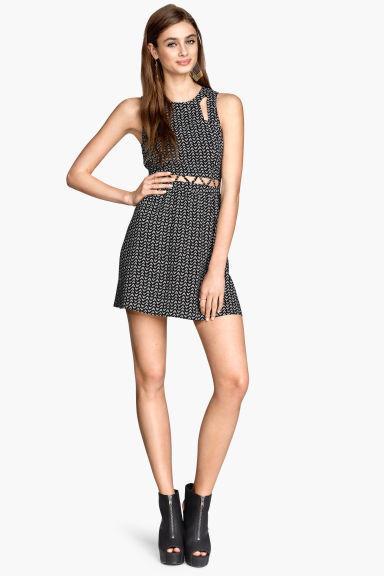 Платье в принт с вырезами H&M