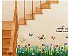 Интерьерная наклейка на стену  Цветы и бабочки (AY701), фото 2