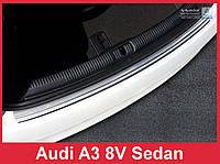 Накладка на задний бампер из нержавейки Audi A3 8V рест.